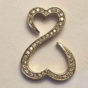 Jewelry - 14K AND 1/2CTTW GENUINE DIAMOND OPEN HEART PENDANT
